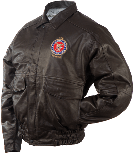 NRA Leather-Bomber-Jacket